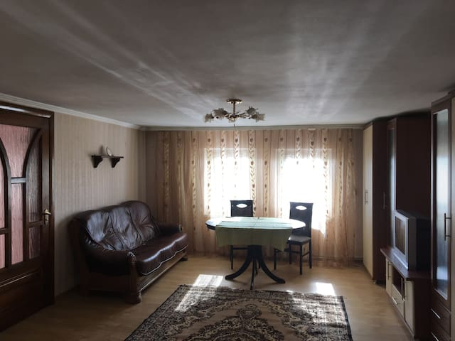 Room overlooking the old town of Chernivtsi