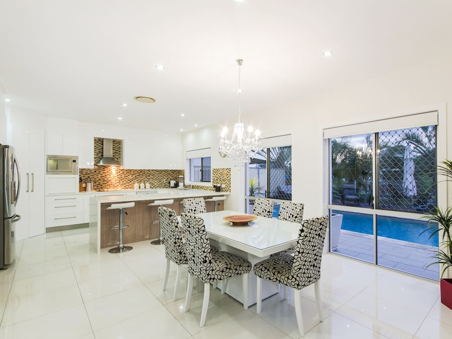 Enjoy entertaining in this open planned kitchen/dining space.