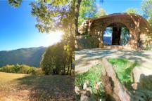 ESTIVA : Le Loft du Hobbit - Vue / Spa / Piscine