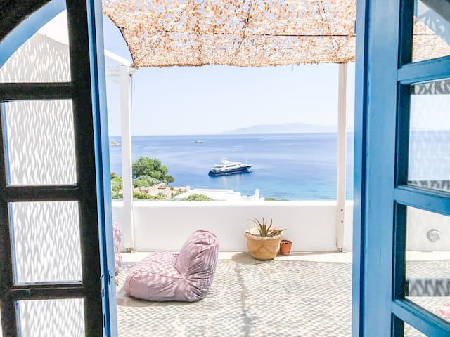 Amazing house with breathtaking view in Mykonos - Ornos - Casa