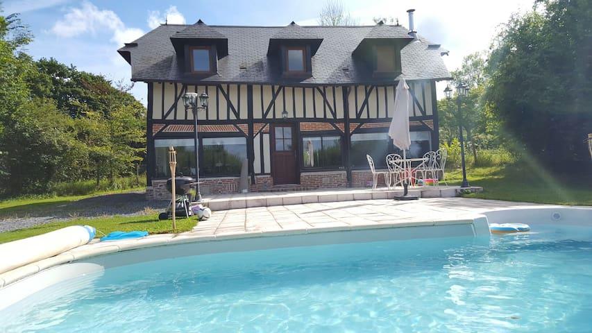 Maison Normande moderne av piscine - Maisons à louer à Bonneville ...