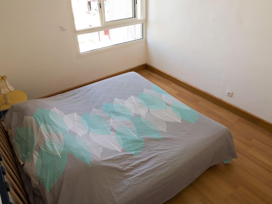 Chambre à louer. La chambre est lumineuse et aérée.