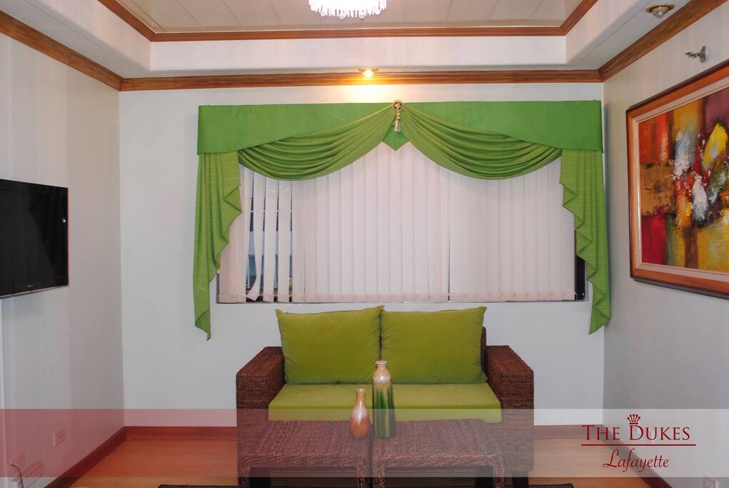 Brand new and fully furnished living room perfect for a cozy night in.