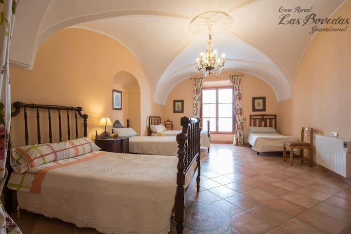 XIX century dome bedroom 2 with four single beds.