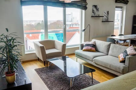 Modern 2 BR apartment in centre with free parking