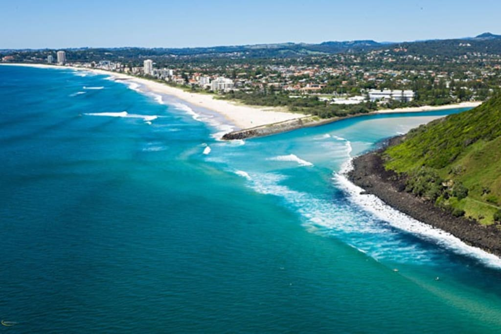 Palm Beach from the air