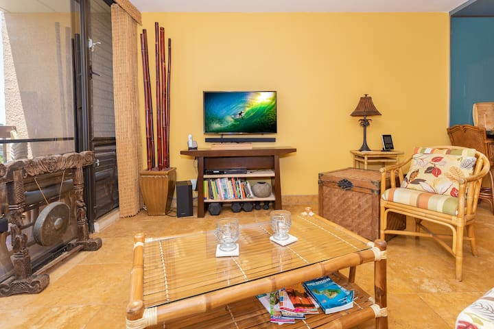 TV area includes DVD player and cable TV