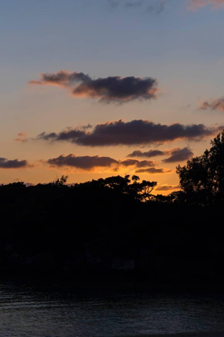 南部の西海岸の夕日は穴場です