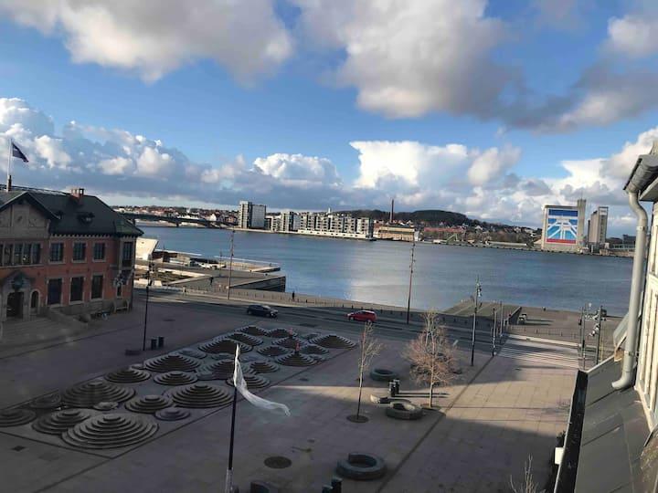 centralt beliggende i Aalborg midtby med havudsigt