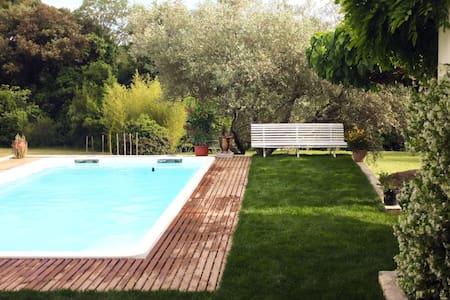 Maison calme avec piscine dans le piémont cévenol. - Durfort-et-Saint-Martin-de-Sossenac - Huis