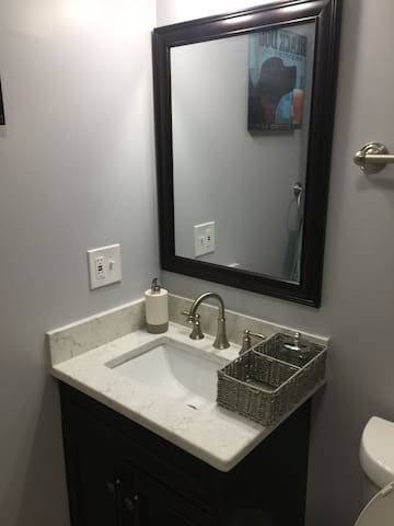 Two shared bathrooms are available at your disposal - 1 on the first floor and 1 on the second floor