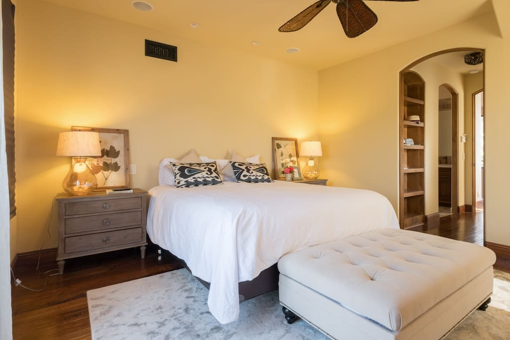 Bright and welcoming master bedroom