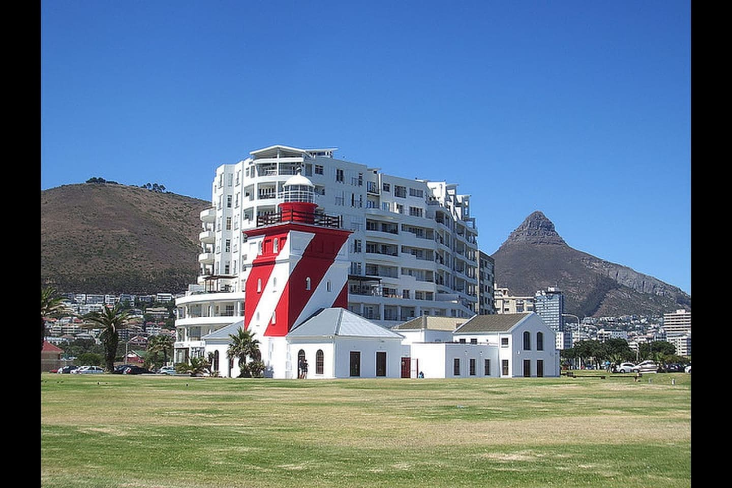 "Your home is 100m from the iconic Mouille Point (""MOO-lee"") lighthouse."