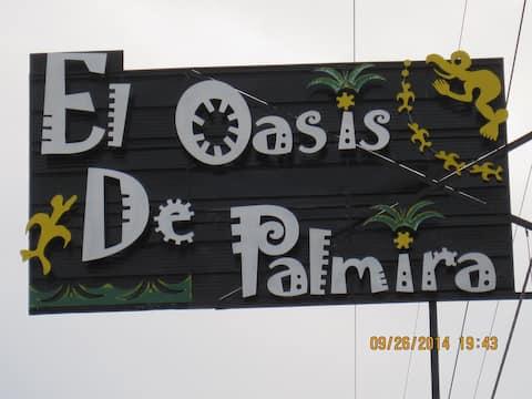 El Oasis de Palmira te recibe.