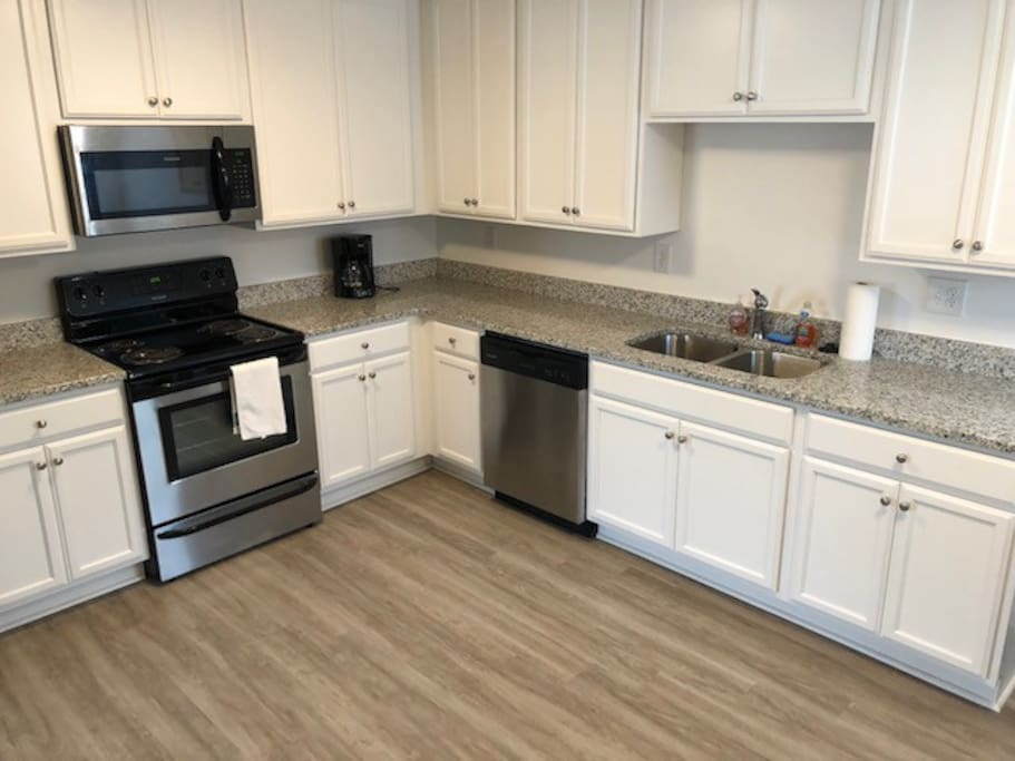 Stainless Steel and Granite Countertops