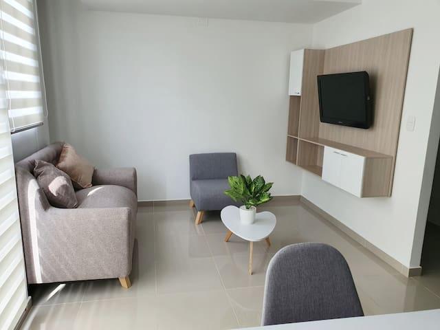 Lindo apartamento completo, en una muy buena zona