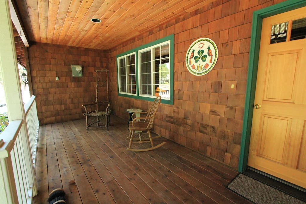 Front porch perfect for your morning cup of coffee