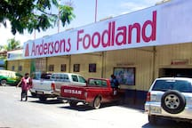 Anderson's Foodworld -  a large supermarket