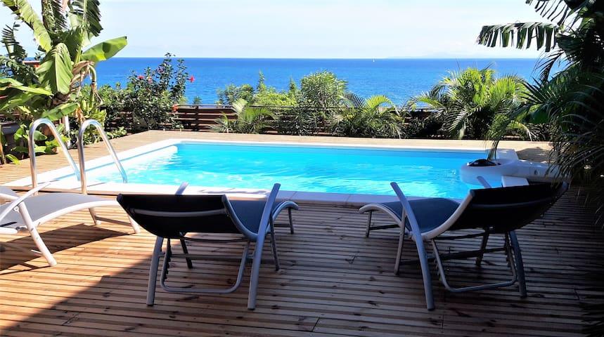 Kaz Flots bleus:180° de bleus!Plage à 150m,piscine