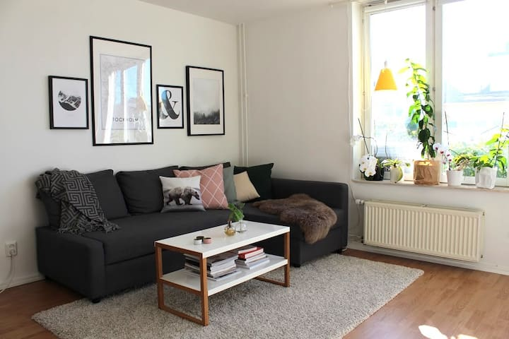 Scandi apartment with balcony close to metro