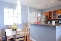 Bright beautiful kitchen. Snacks and drinks are complimentary