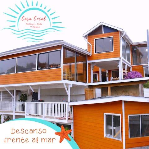 Habitación 1  Frente al Mar - Playa Pichicuy