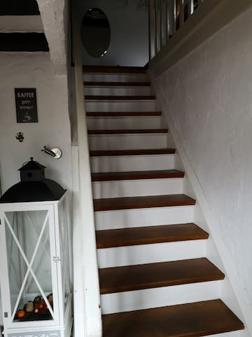 Upstairs to the Apartment