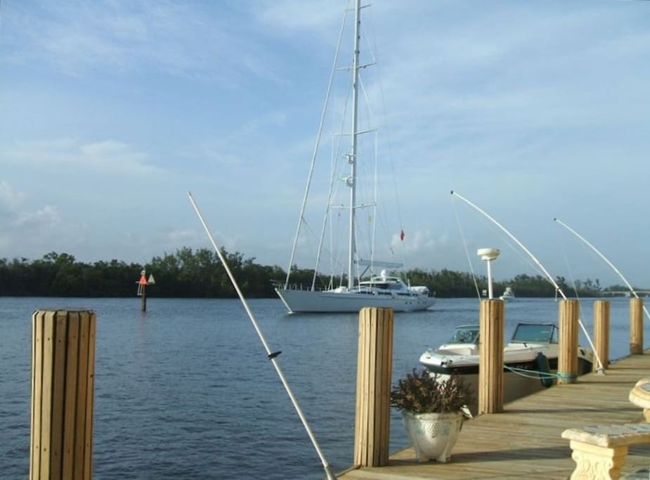 right on the intercoastal with your own deck!