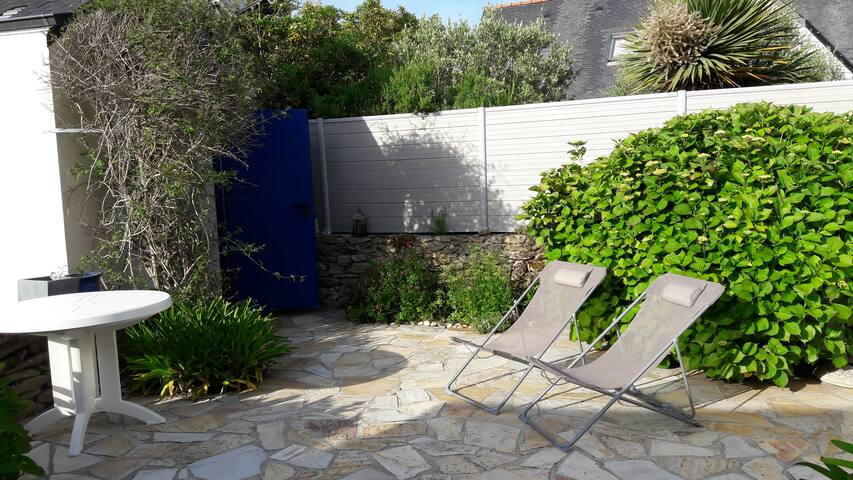 L'abri côtier, studio, terrasse privée, 2' plage