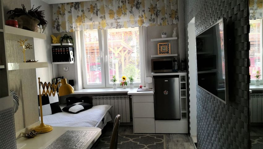 A charming studio apartment - 10min from Airport!