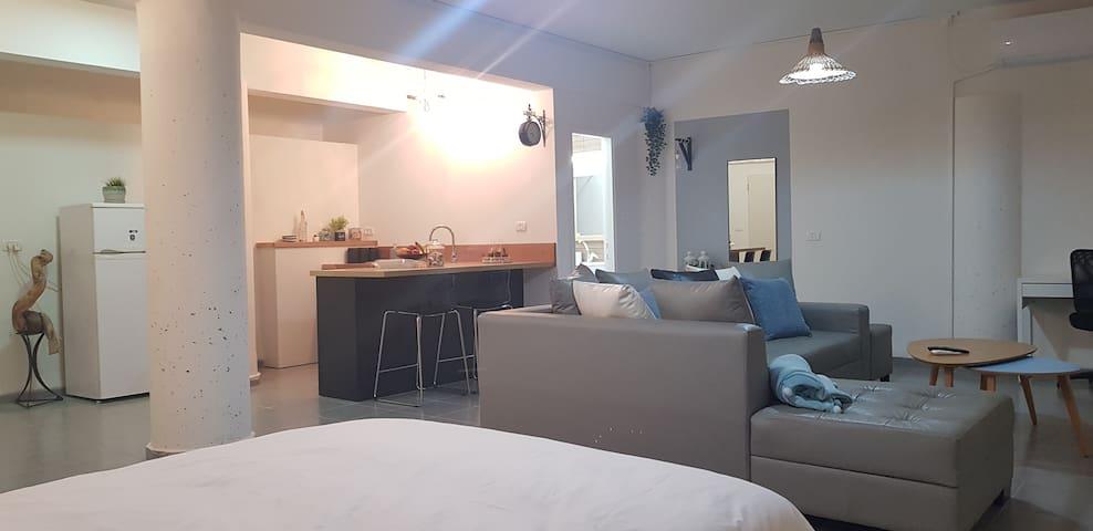 דירת סטודיו בעיצוב מודרני ונעים
