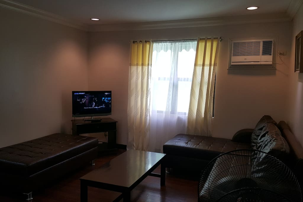 Living Area with Cable TV