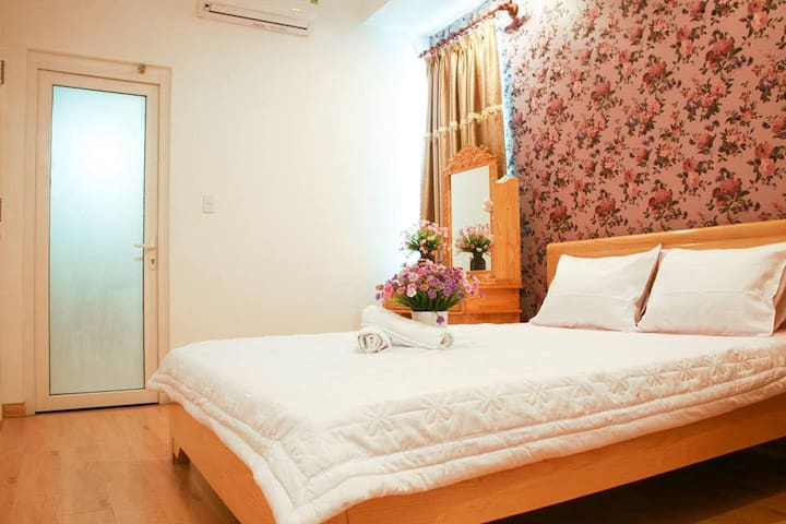 equipped with 2 large size bedrooms, you can relax after a long trip outside