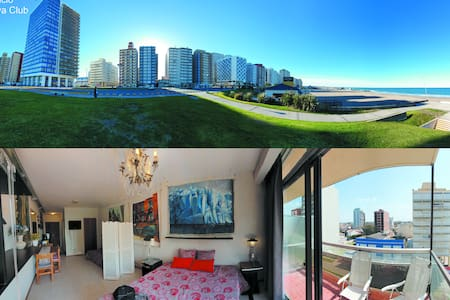 Miramar Depto completo con balcón a 30 mts del mar