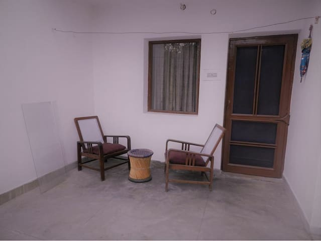 View of the varandha where the guest can enjoy evening tea or coffee.