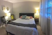 Recently updated guest room with queen bed.