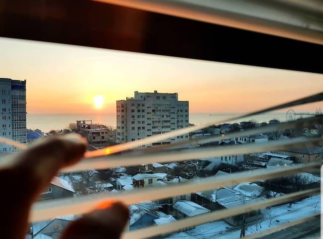 Уютная квартира в Бердянске с видом на море