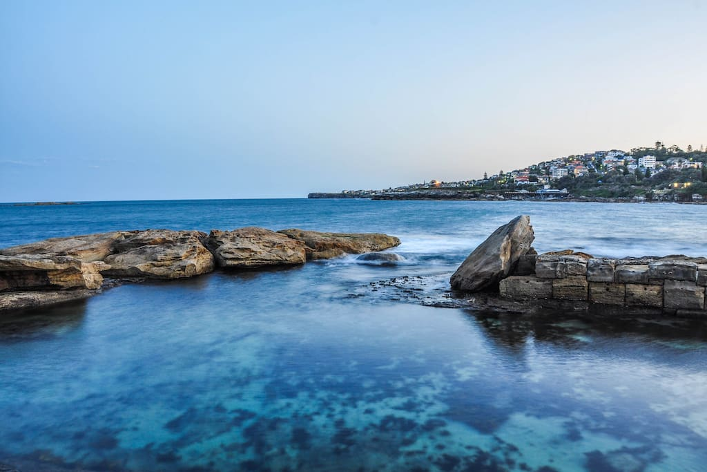 One of the lovely rock pools of Coogee
