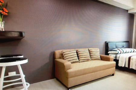Fully furnished.studio type condo - San Mateo - Apartemen