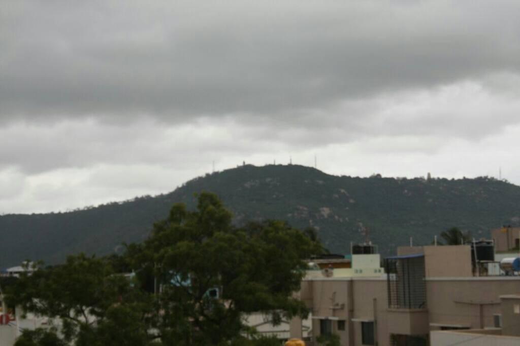 amazing view of chamundi hill