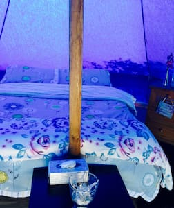 Andalucian  Glamping 5m Bell Tent Teal - Álora - Barraca