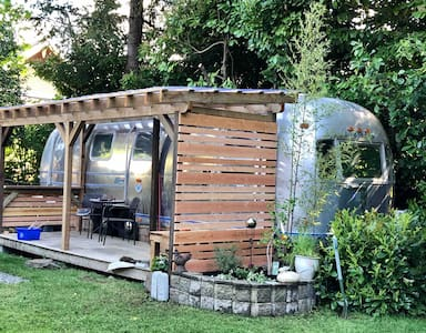Vintage Airstream in the Old Orchard Area