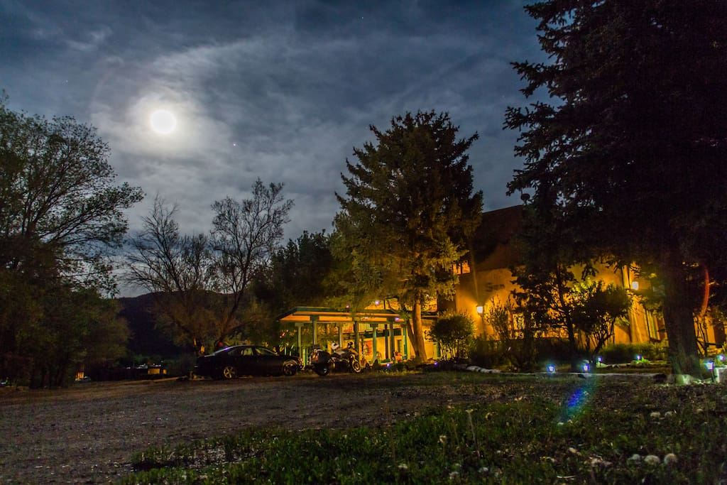 Relax and unwind under a full moon or blanket of stars