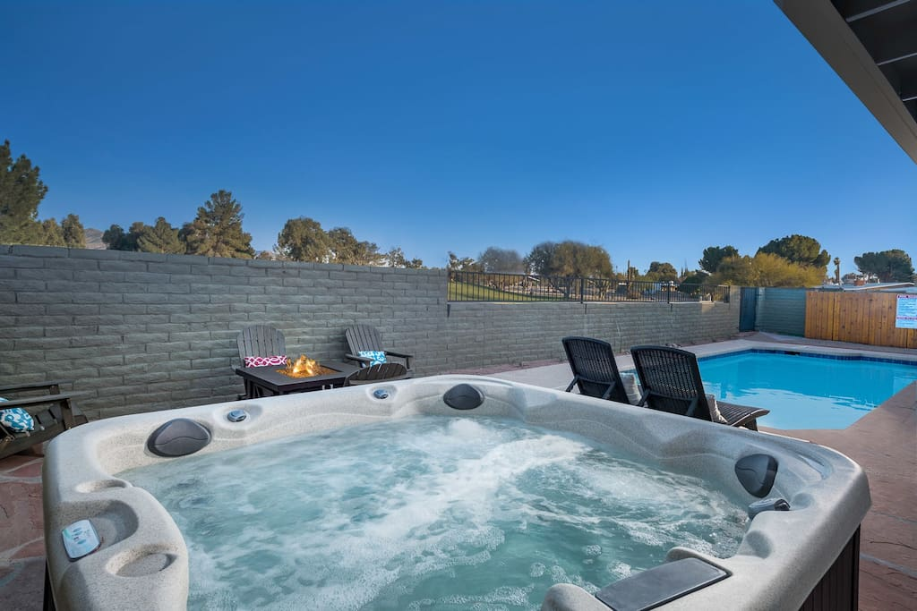 Private Heated Pool and above ground spa!