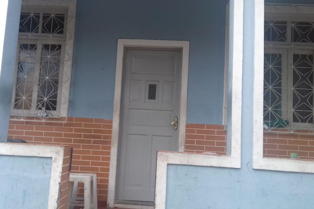 varanda 1º andar,com rede para descanso