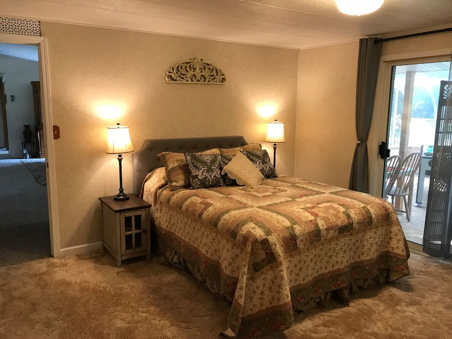 Master Bedroom has a very comfortable queen size bed and soft blankets