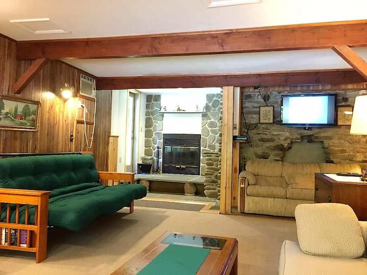 Cozy 2 bedroom apt. with wood burning fireplace