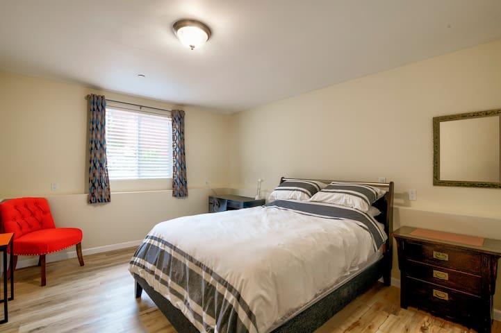 Bright, Comfy Master Bedroom with ensuite Bath