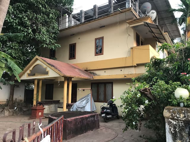"""A  Front view of the house that you will enjoy, very traditional with Tulasi Katta. """"SUCHEE's"""" This is Bernacherry, Very safe and secured cantonment location. Just opposite to E. K. Naynar Academy."""