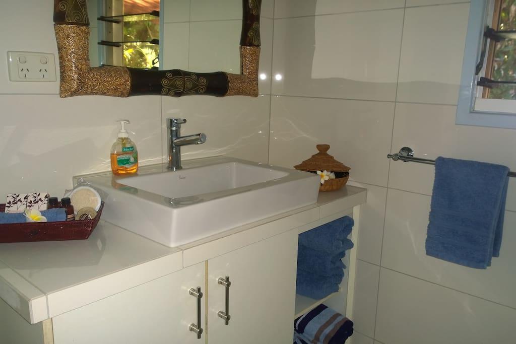 Modern Private Bathroom walk in shower